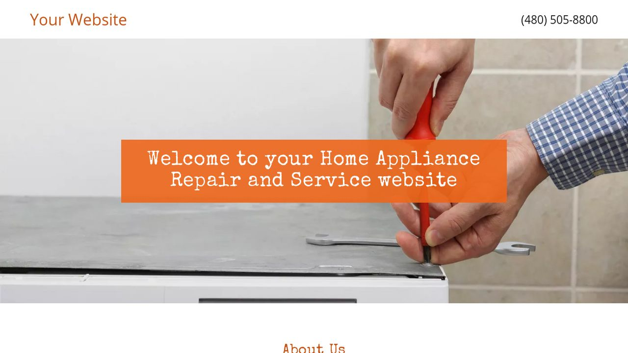 Home Appliance Repair and Service Website: Example 8