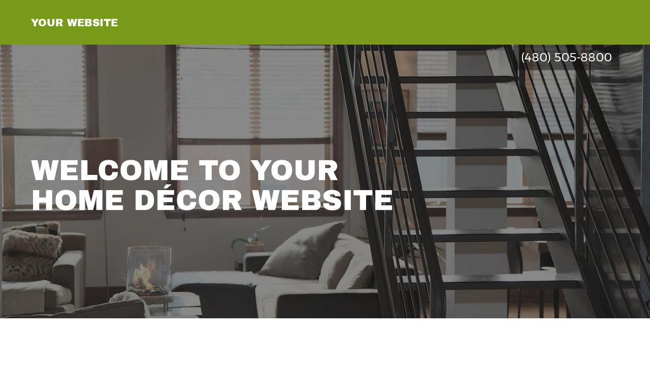home décor website templates godaddy