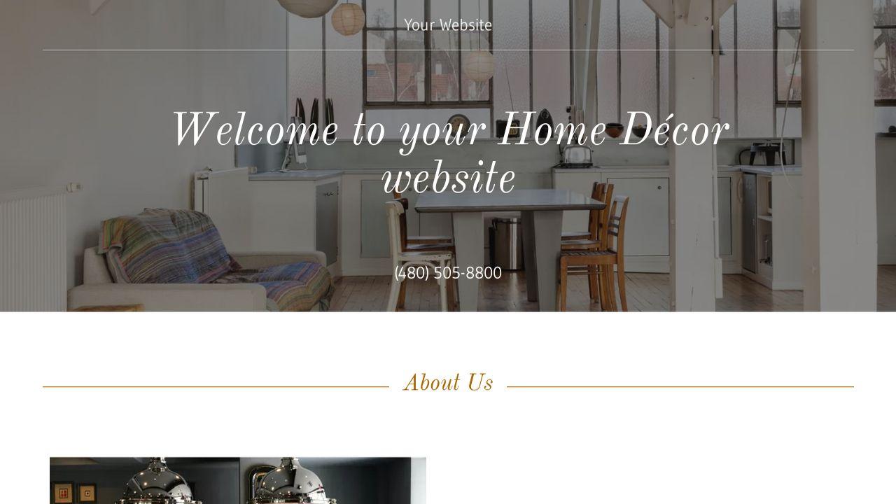 Home d cor website templates godaddy for Home interior website