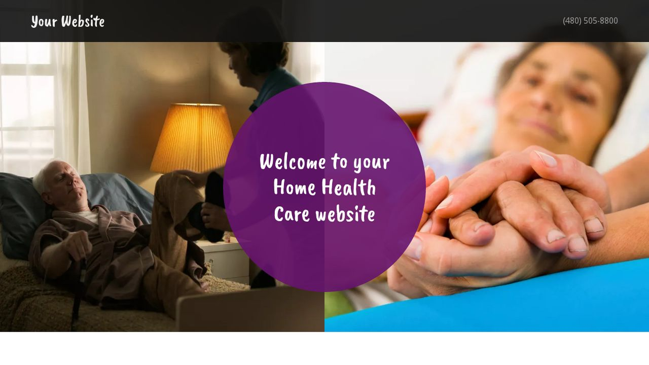 example 17 home health care website template