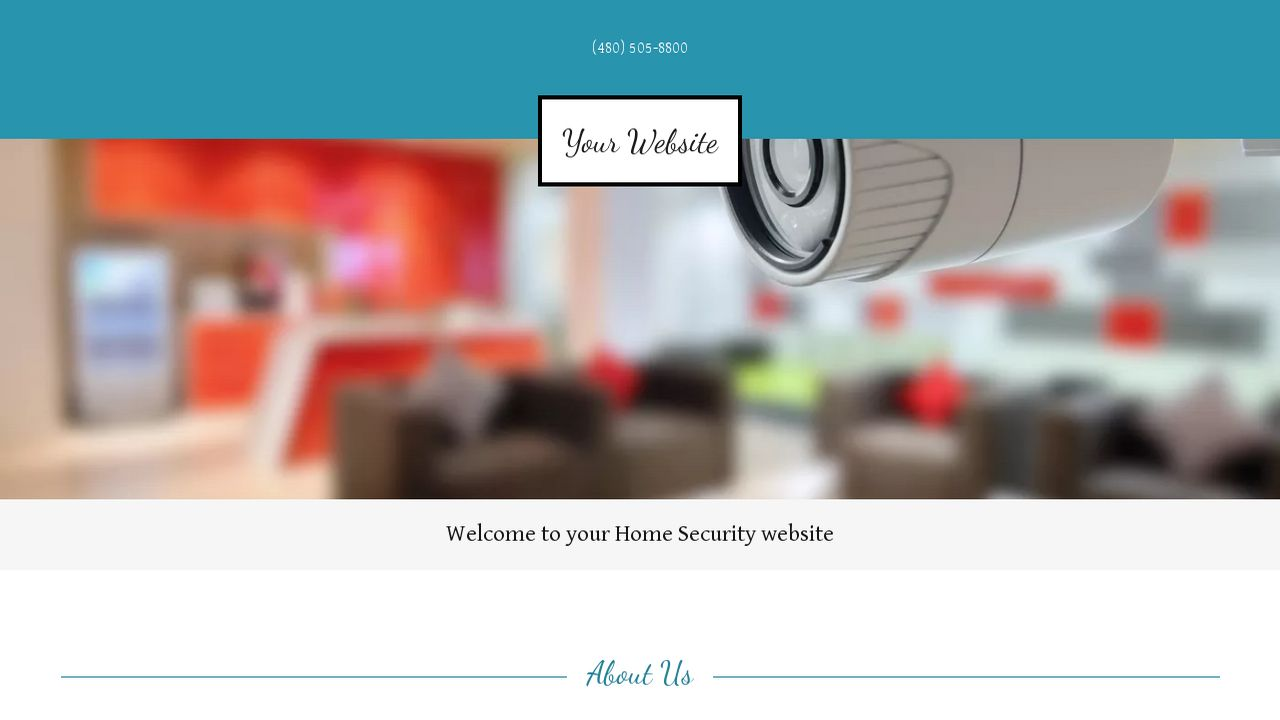 Home Security Website: Example 1