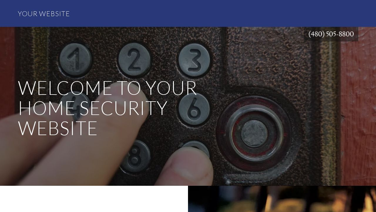 Home Security Website: Example 13