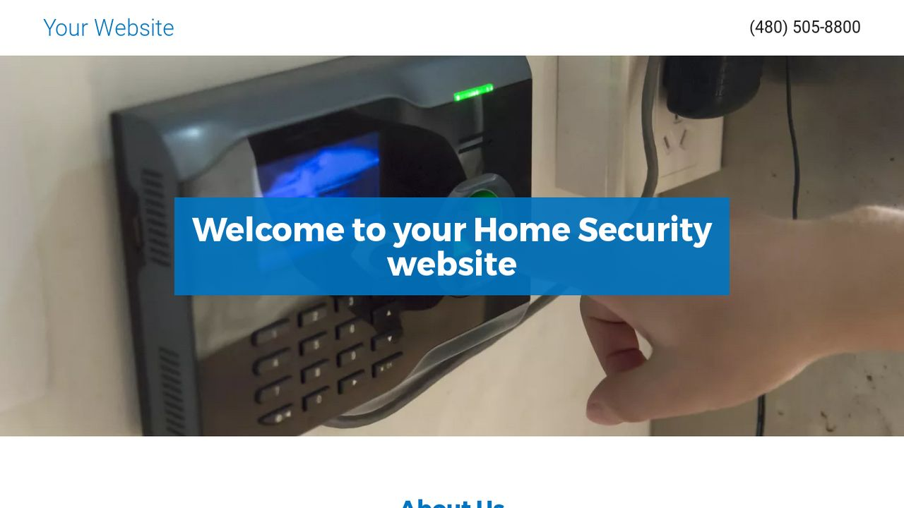 Home Security Website: Example 14