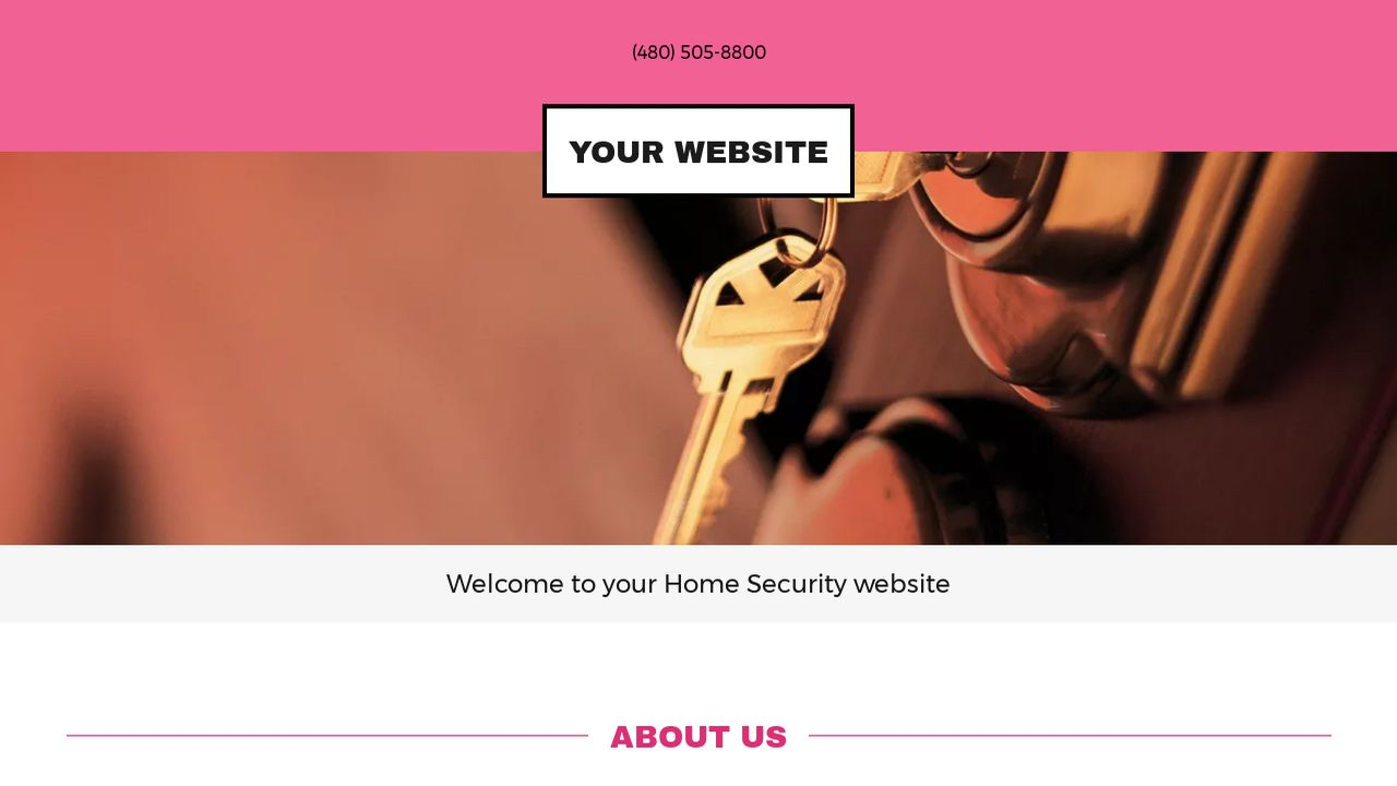 Home Security Website: Example 15