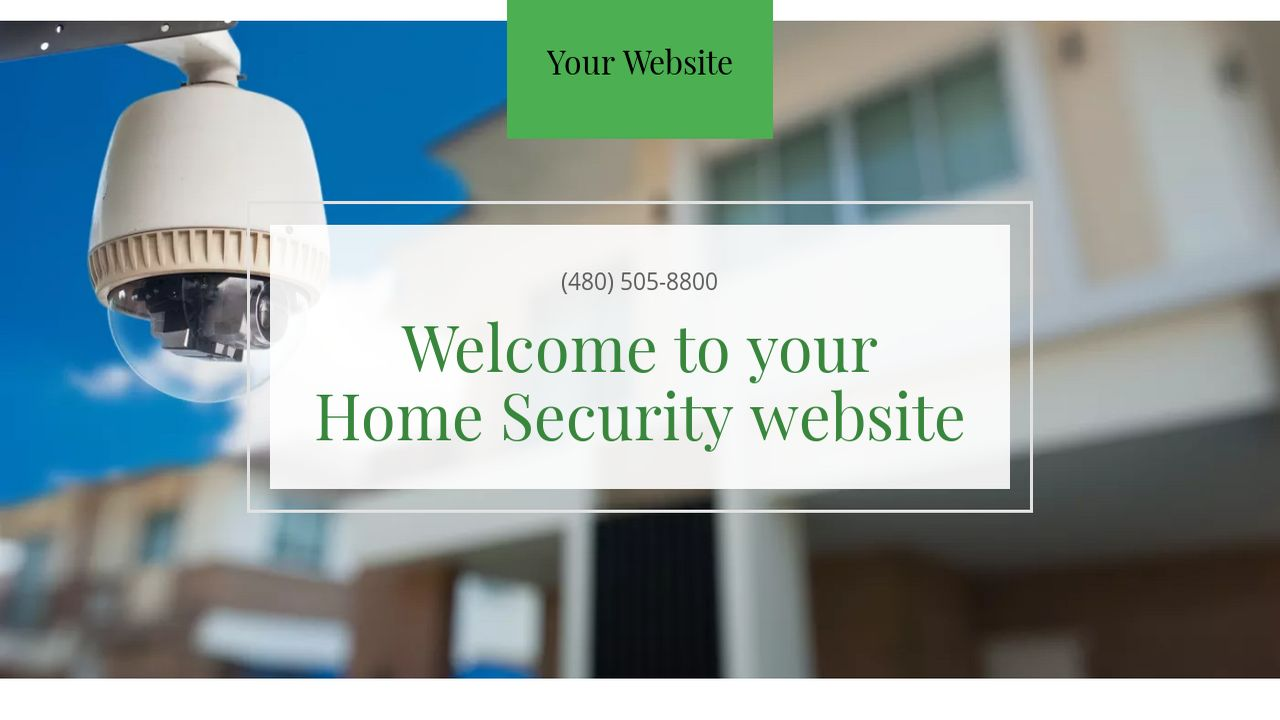 Home Security Website: Example 16