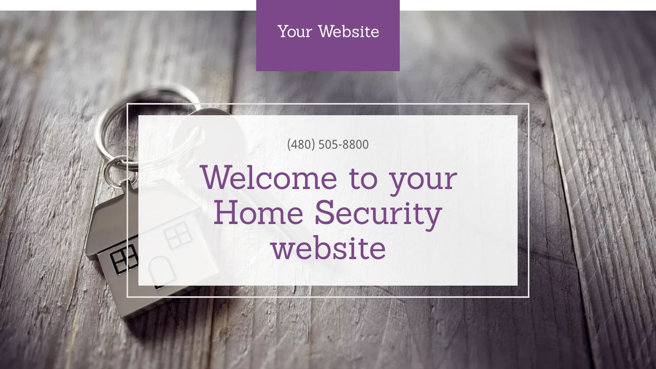 Home Security Website: Example 2