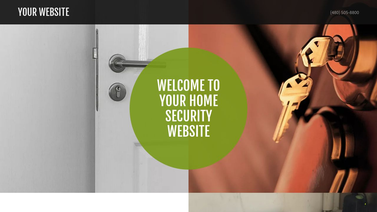 Home Security Website: Example 3