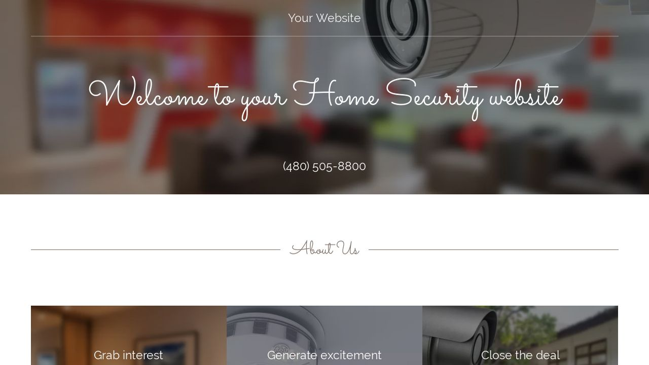 Home Security Website: Example 5