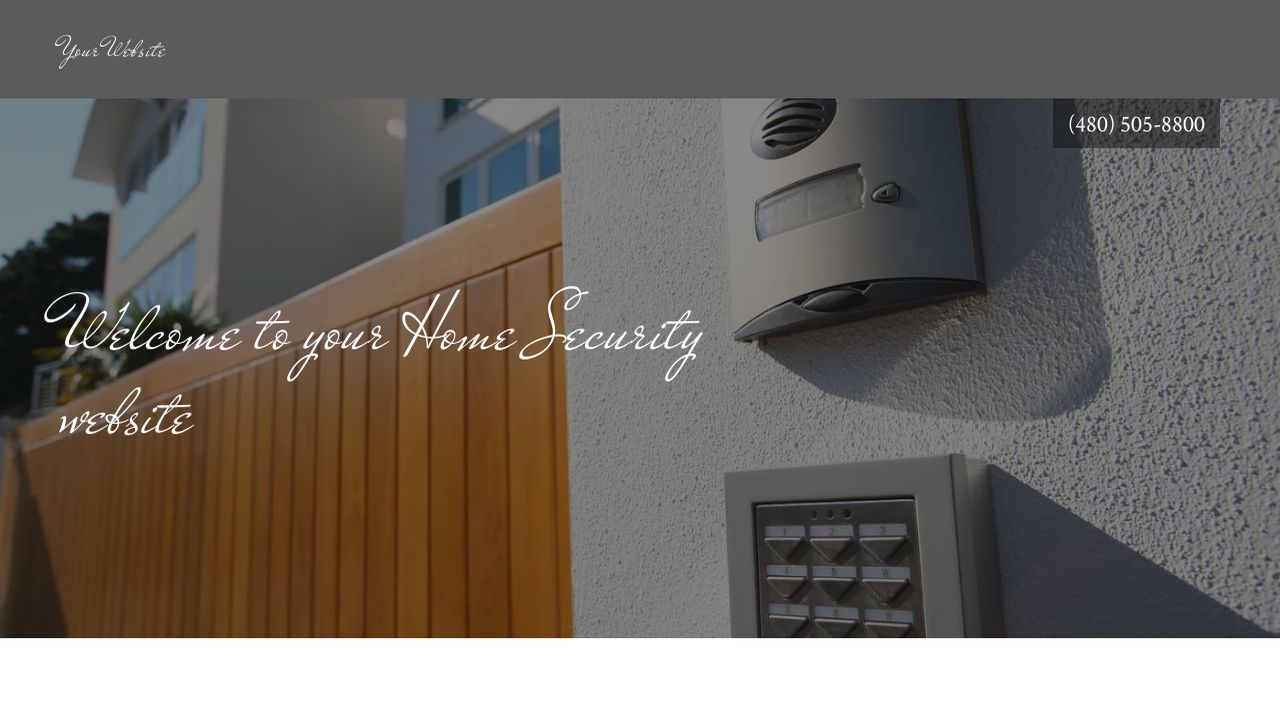 Home Security Website: Example 6