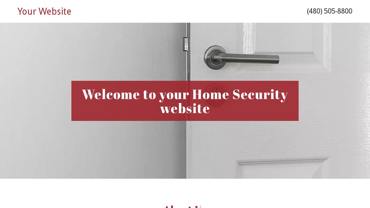Home Security Website: Example 7
