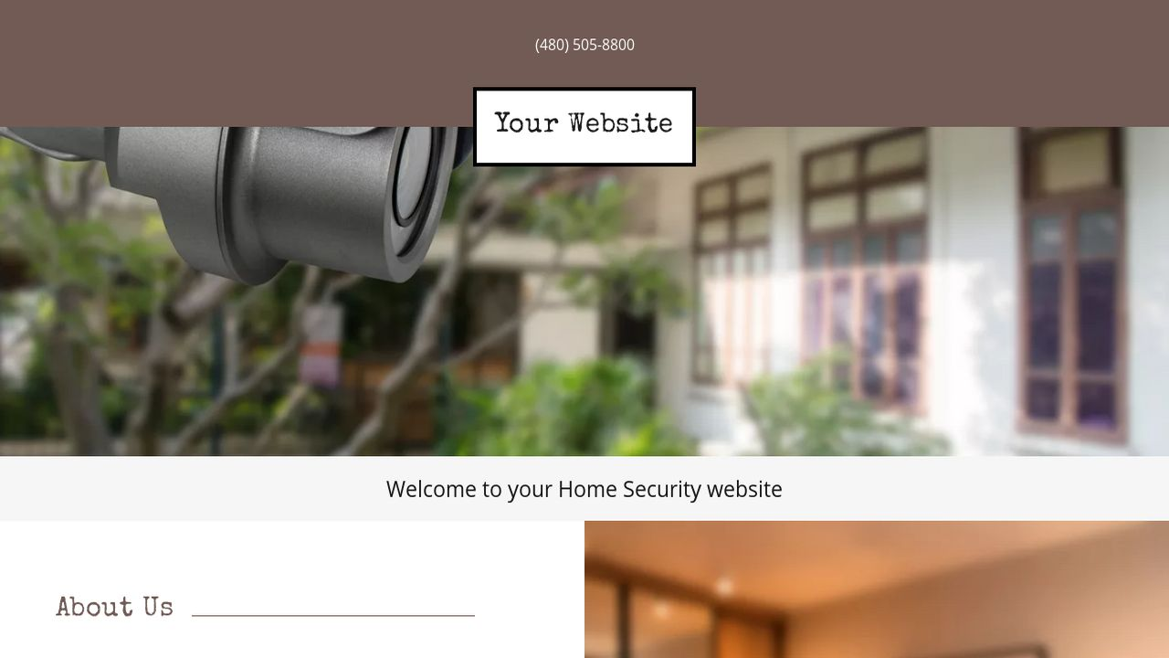 Home Security Website: Example 8