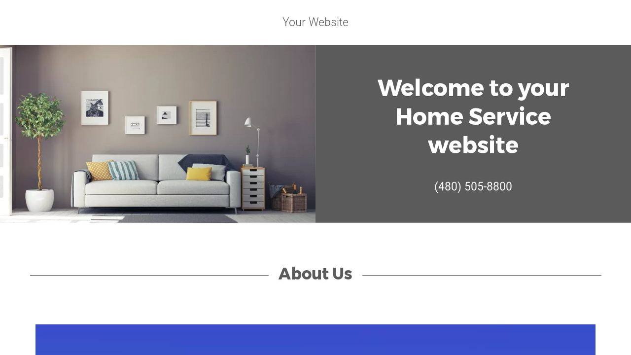 Home Service Website: Example 1