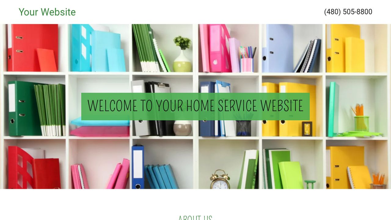 Home Service Website: Example 11