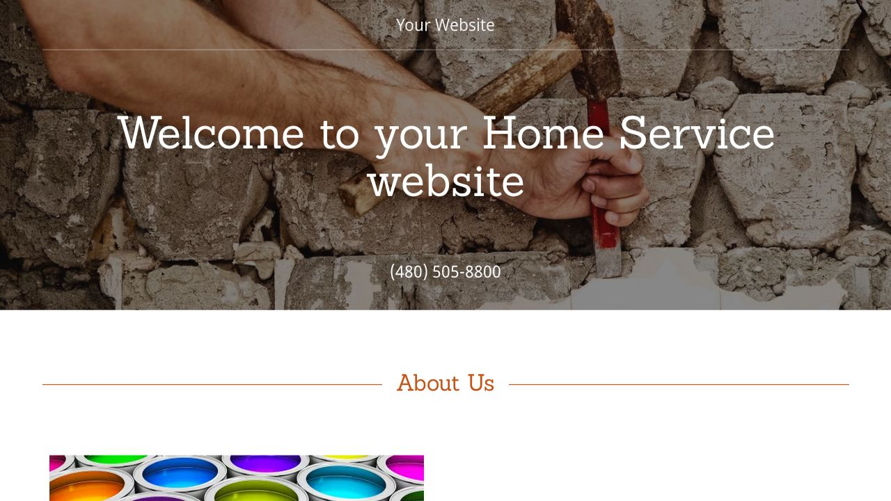 Home Service Website: Example 12