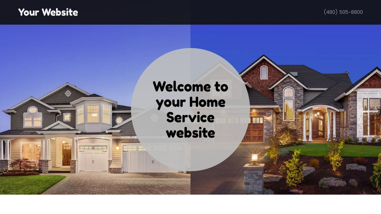 Home Service Website: Example 13