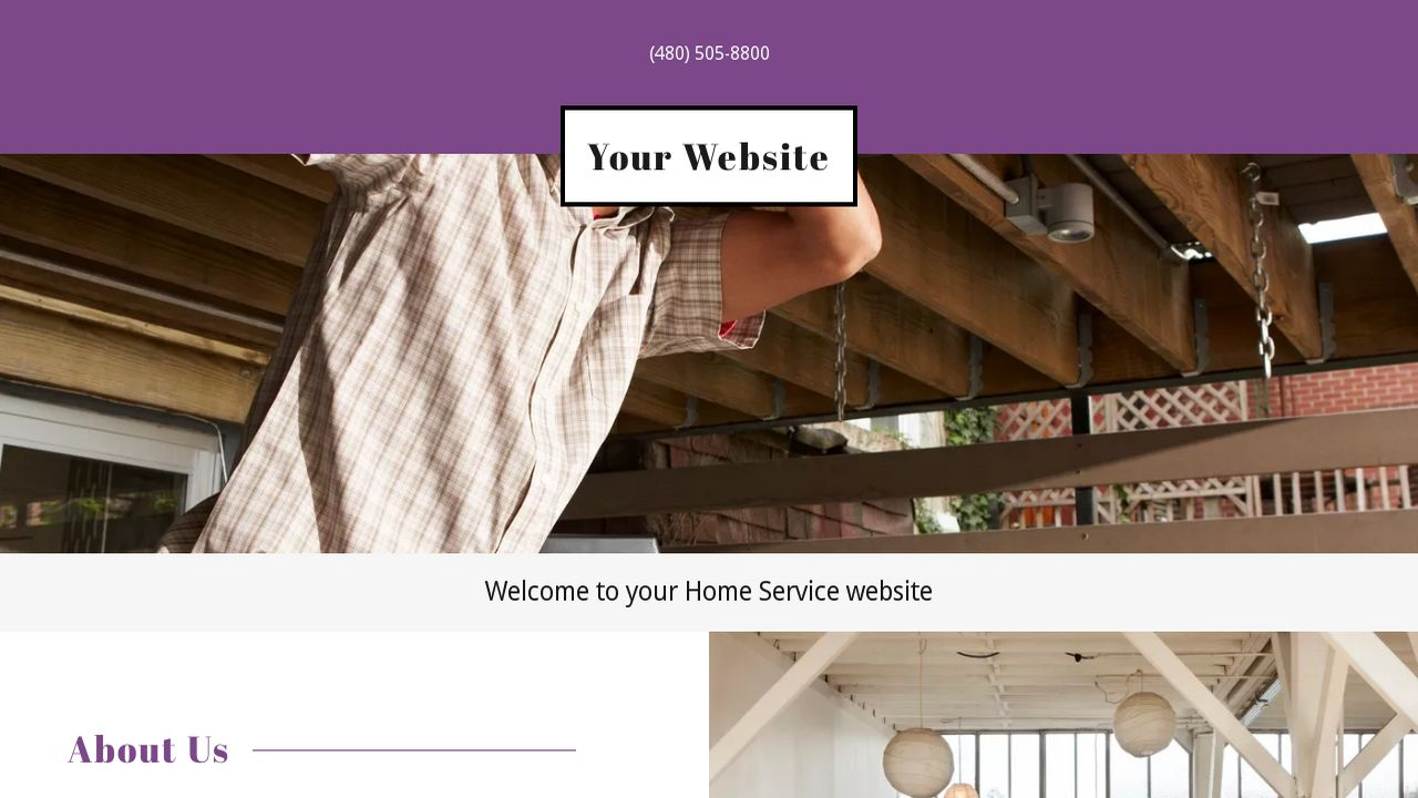 Home Service Website: Example 14