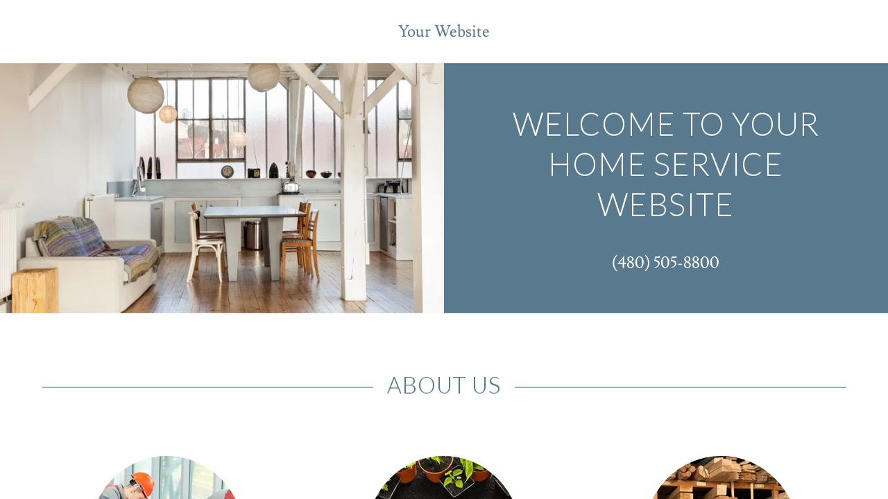 Home Service Website: Example 15