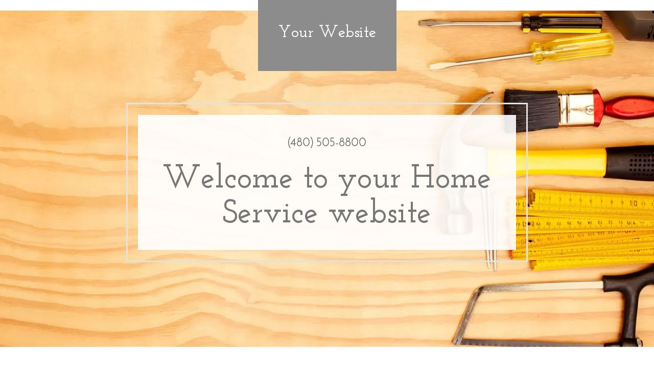 Home Service Website: Example 16