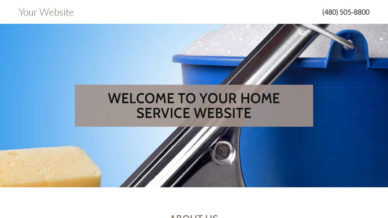 Home Service Website: Example 18