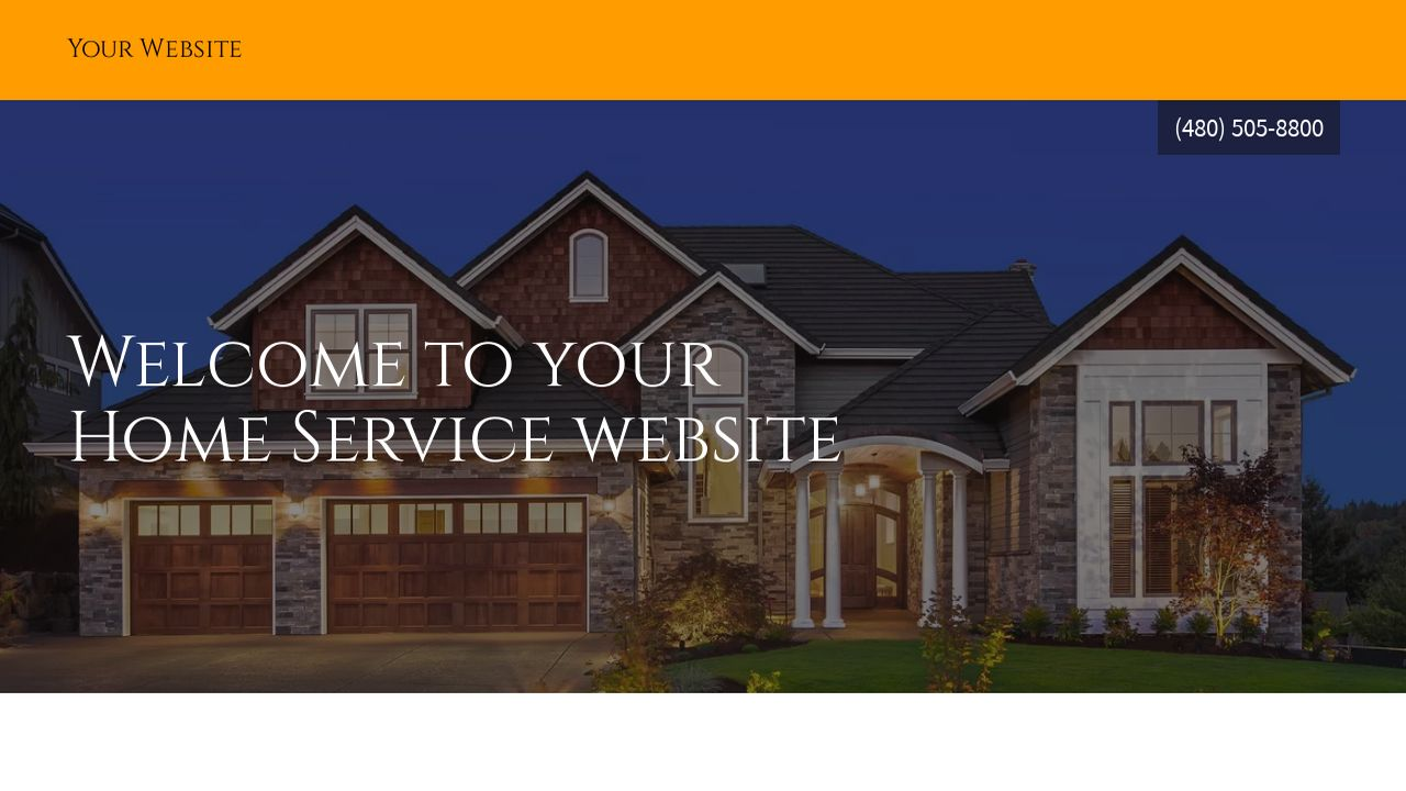 Home Service Website: Example 3