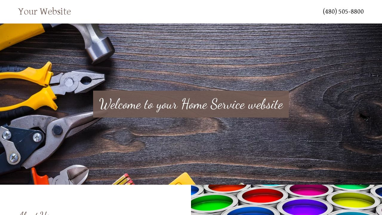 Home Service Website: Example 4