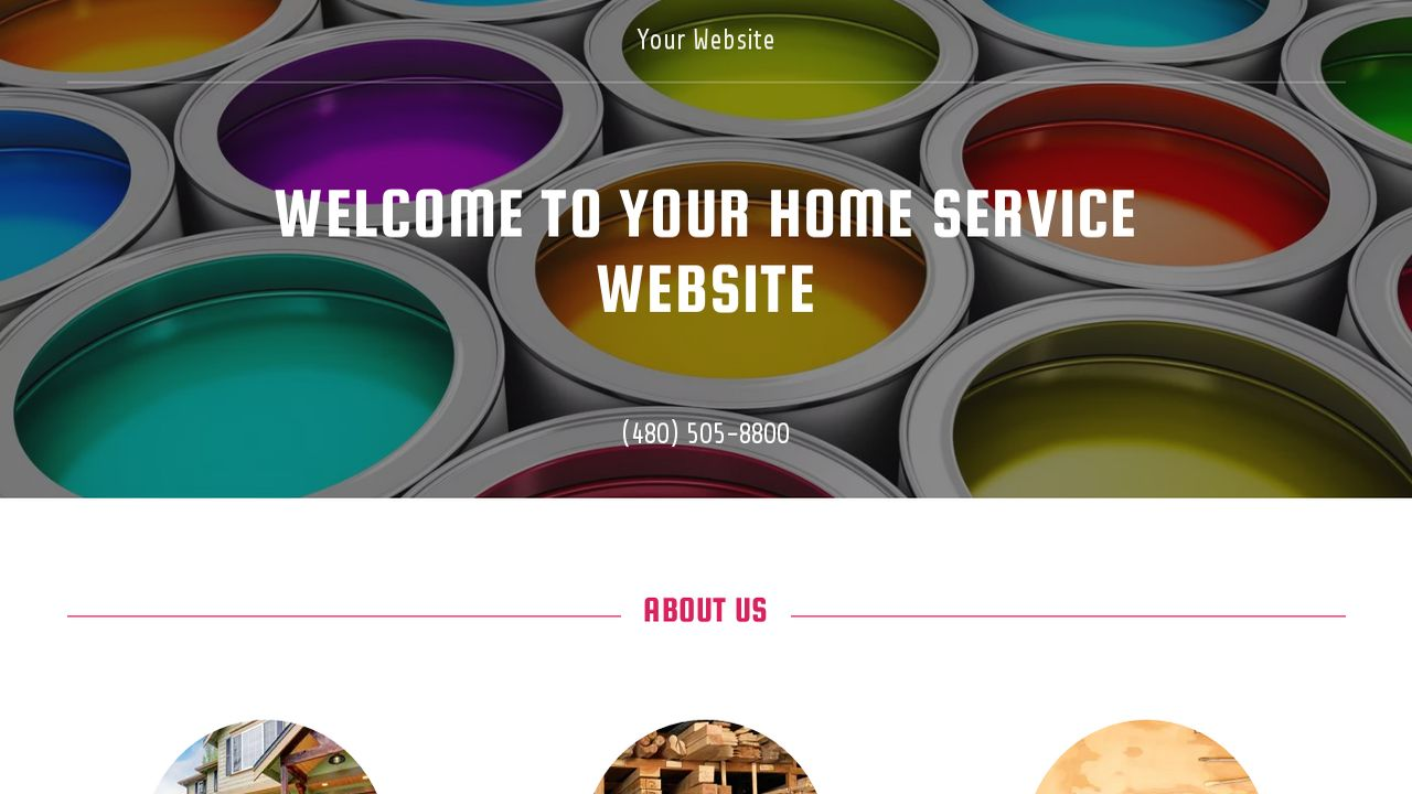 Home Service Website: Example 5