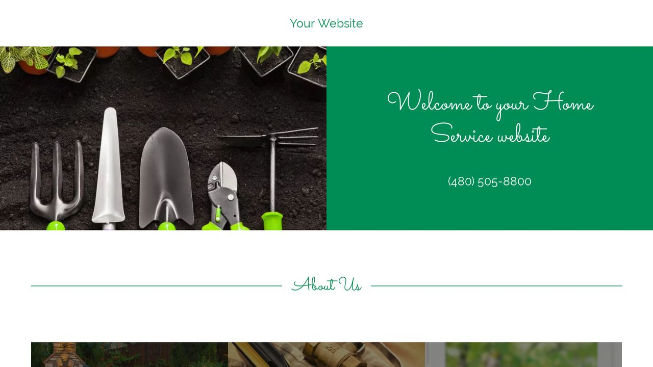 Home Service Website: Example 8