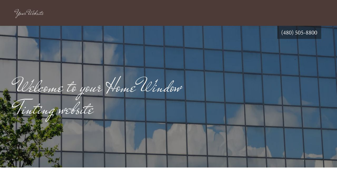 Home Window Tinting Website: Example 10