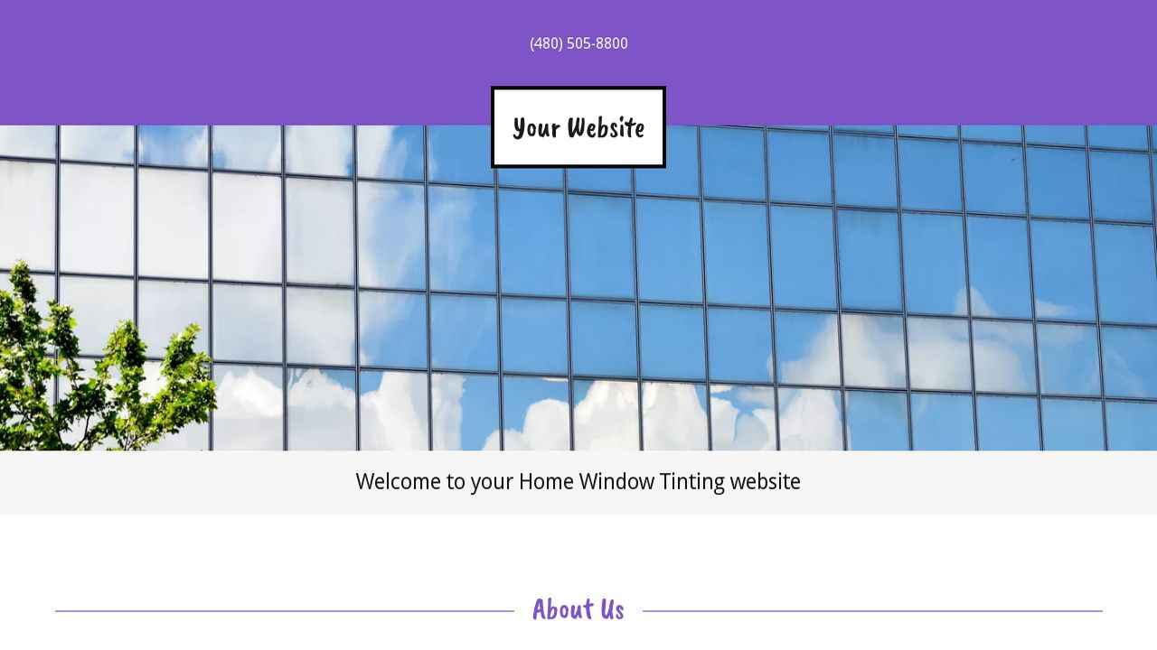 Home Window Tinting Website: Example 11