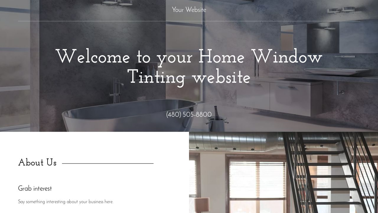 Home Window Tinting Website: Example 13