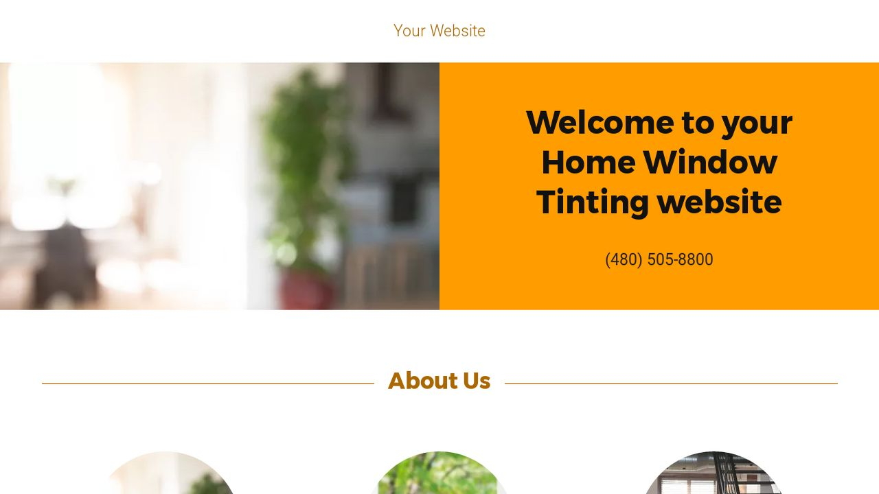 Home Window Tinting Website: Example 15
