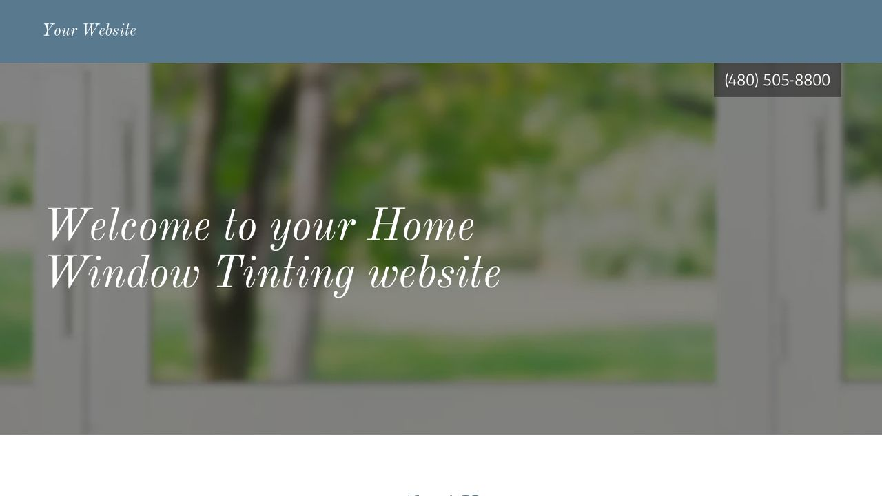 Home Window Tinting Website: Example 17