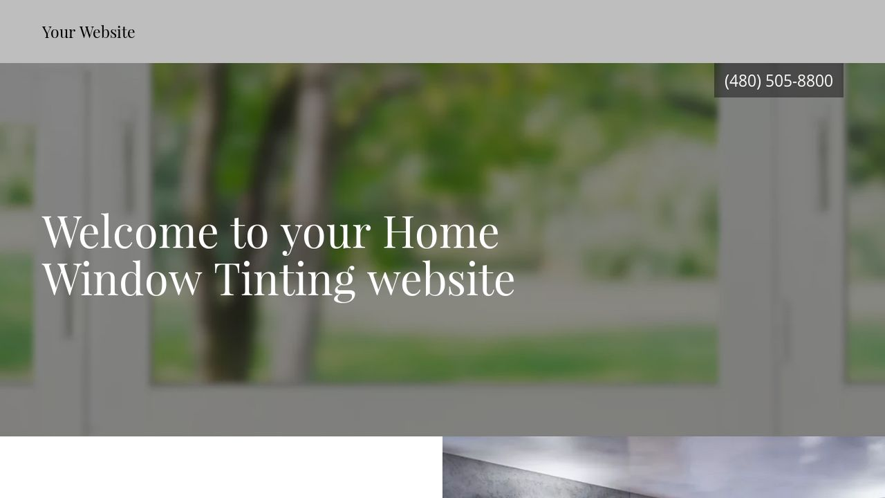 Home Window Tinting Website: Example 3