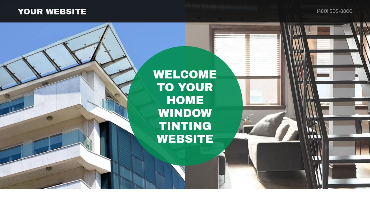 Home Window Tinting Website: Example 5