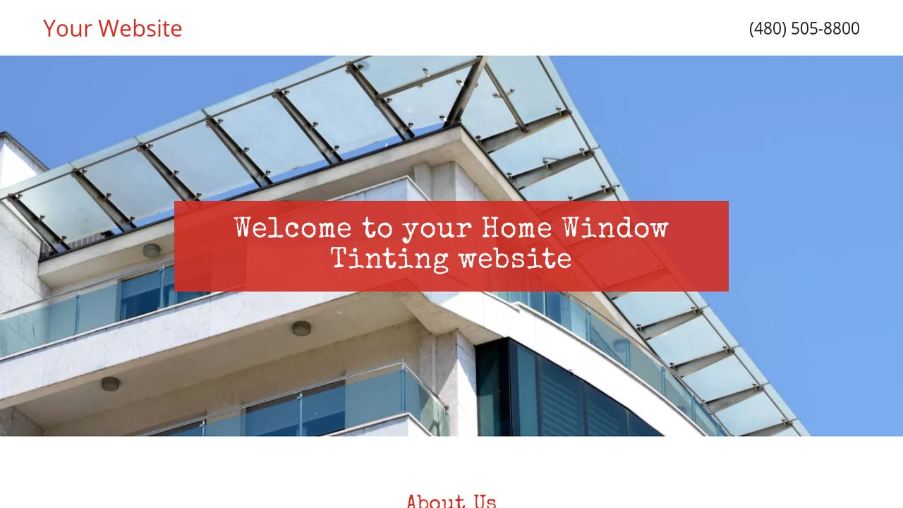 Home Window Tinting Website: Example 7