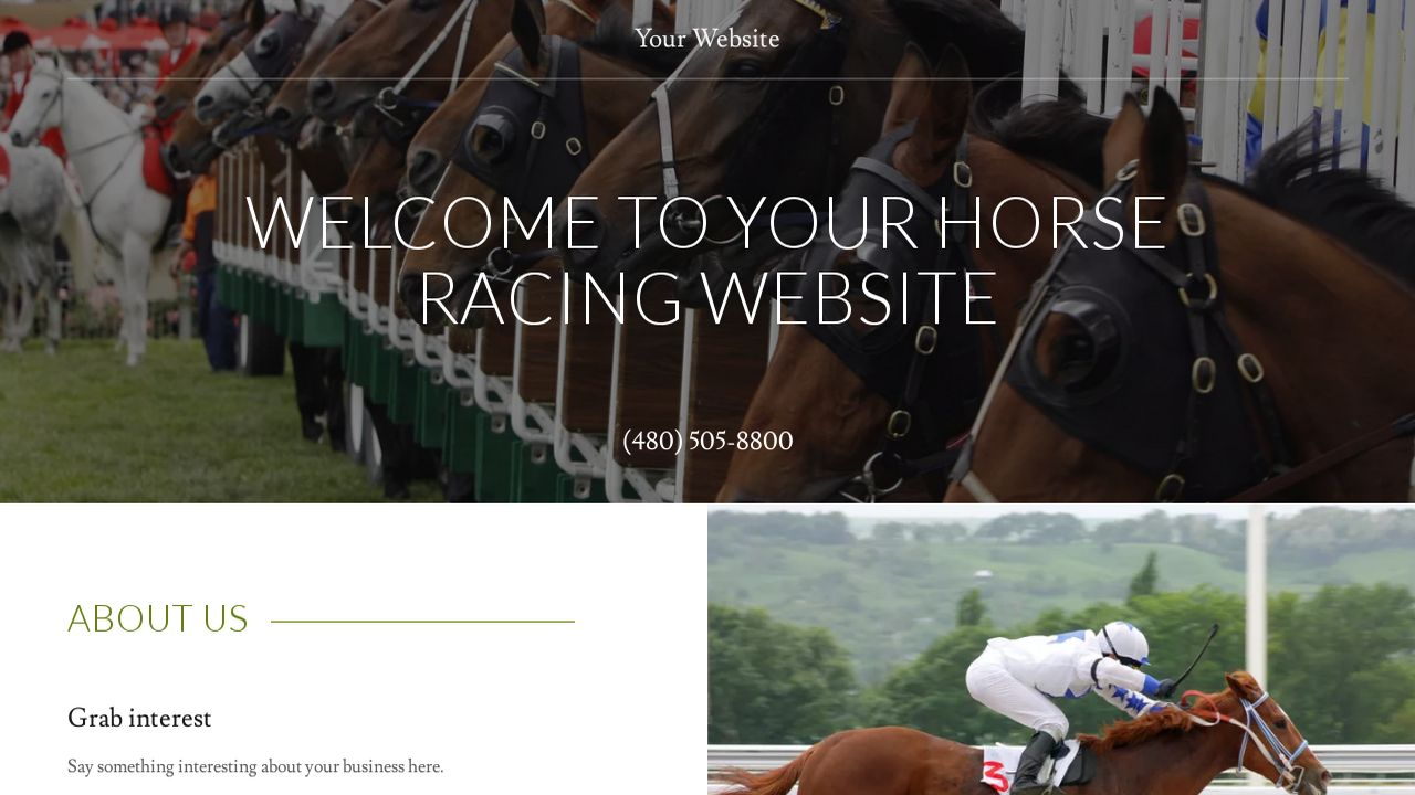 Horse racing website templates godaddy horse racing example 10 yadclub Images