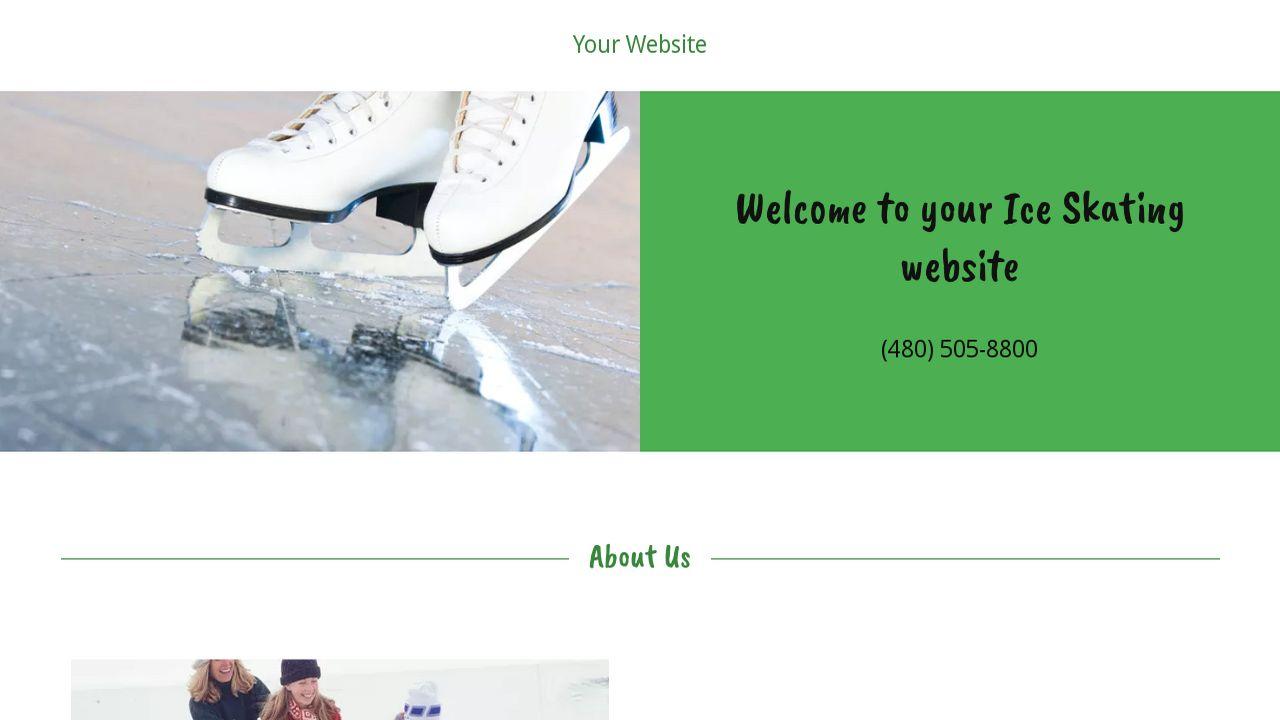 Skating Certificate Template