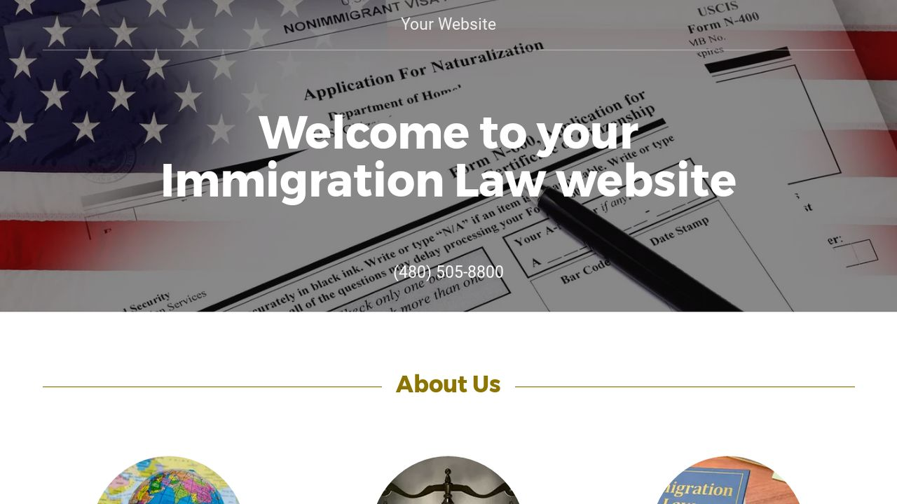 Immigration Law Website Templates | GoDaddy