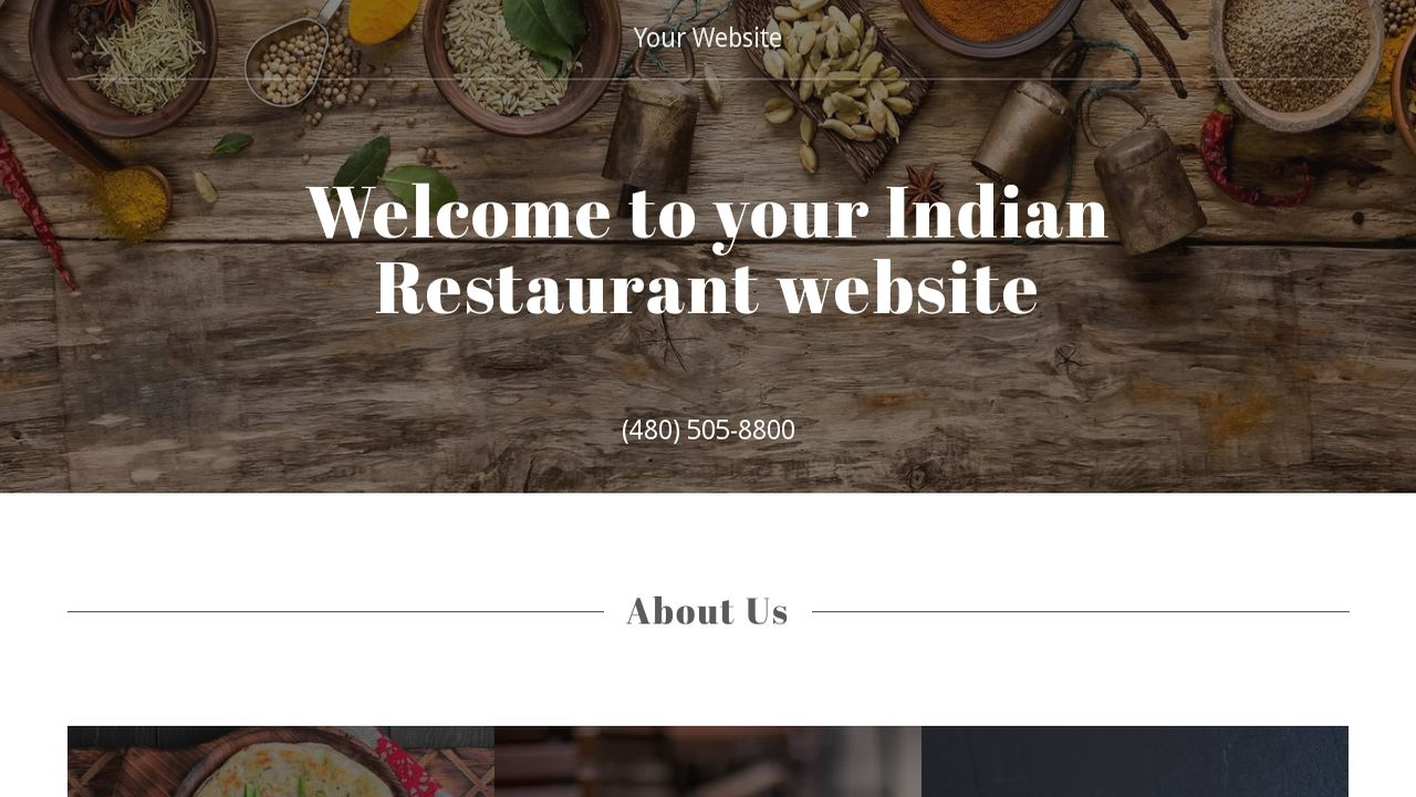 Indian Restaurant Website Templates | GoDaddy