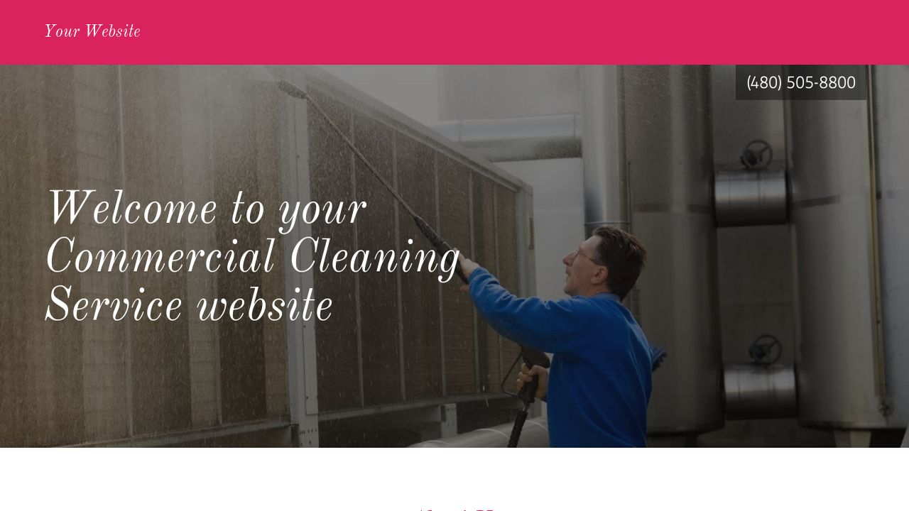 Commercial Cleaning Service Website: Example 1