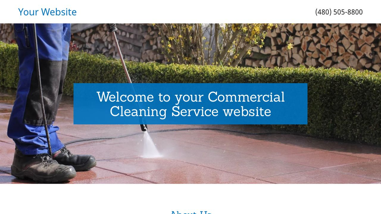 Commercial Cleaning Service Website: Example 12