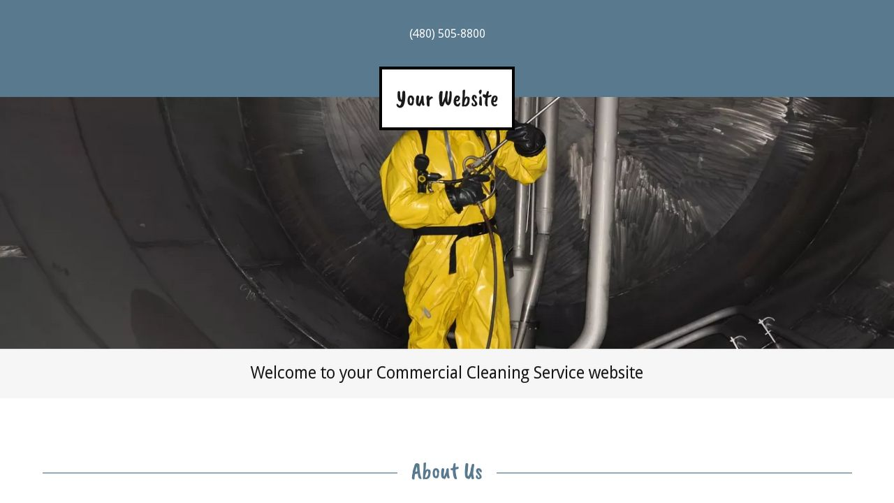 Commercial Cleaning Service Website: Example 13