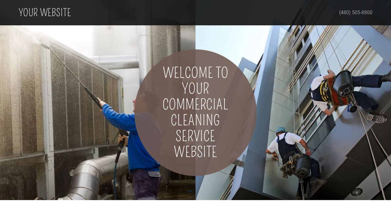 Commercial Cleaning Service Website: Example 16