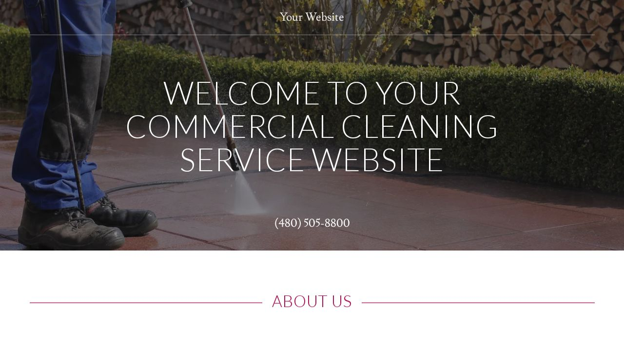 Commercial Cleaning Service Website: Example 17