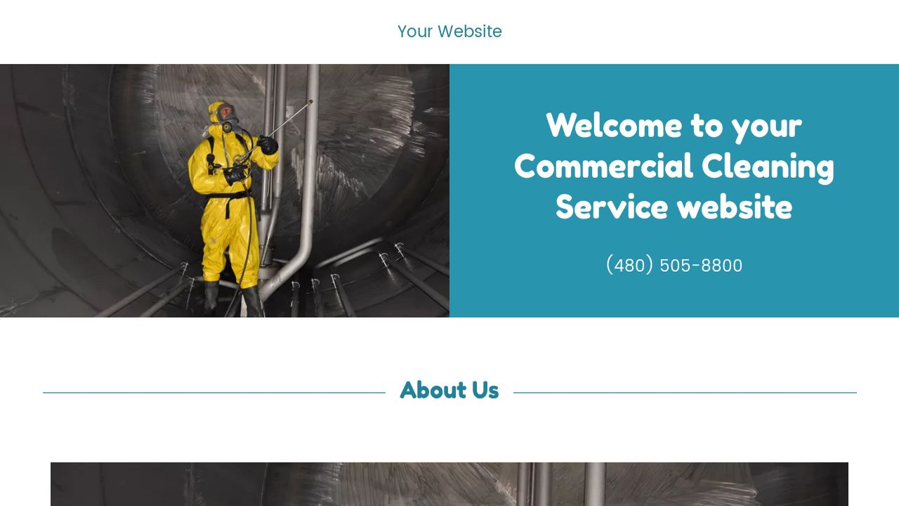 Commercial Cleaning Service Website: Example 18