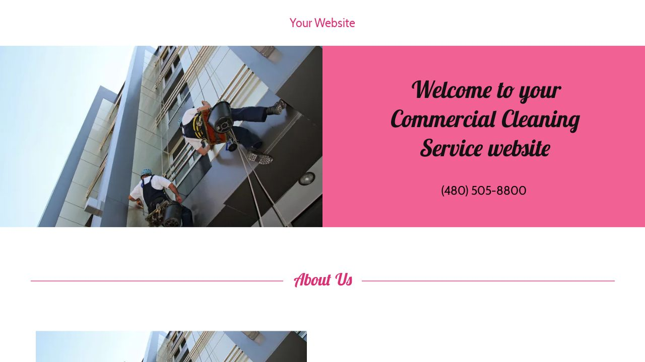 Commercial Cleaning Service Website: Example 4