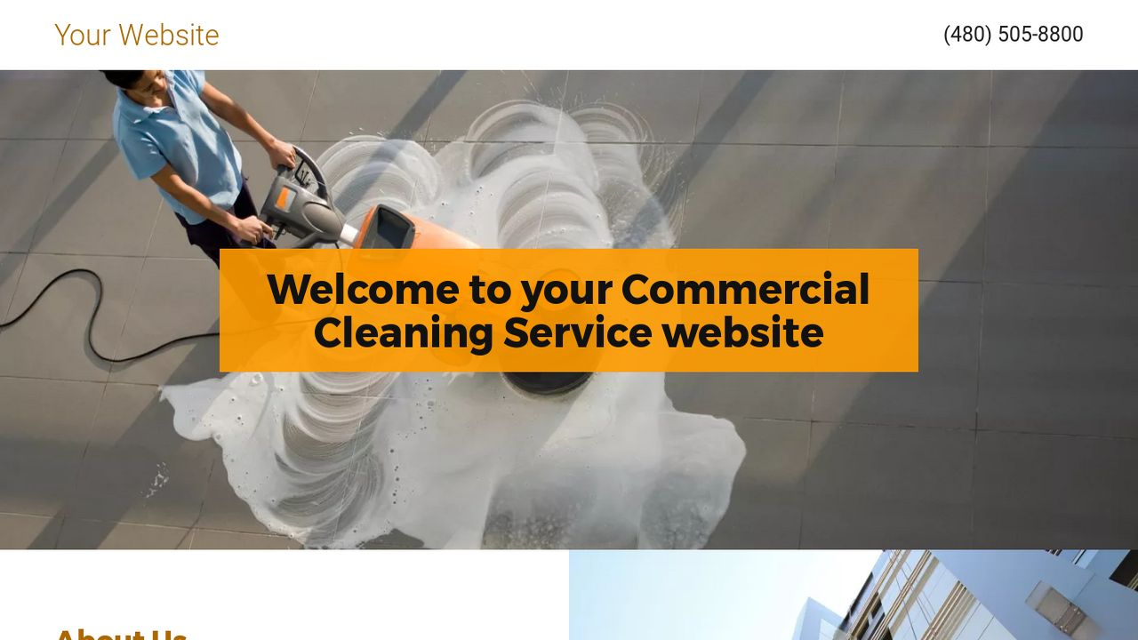 Commercial Cleaning Service Website: Example 5
