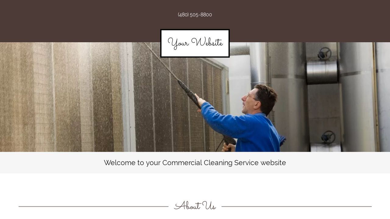 Commercial Cleaning Service Website: Example 6
