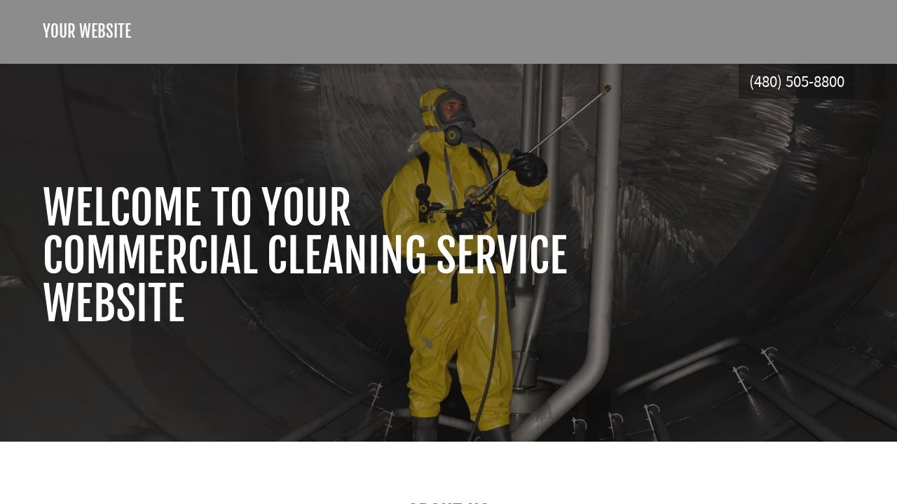 Commercial Cleaning Service Website: Example 8