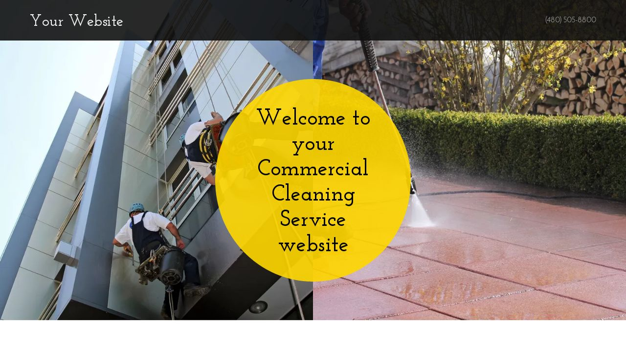 Commercial Cleaning Service Website: Example 9